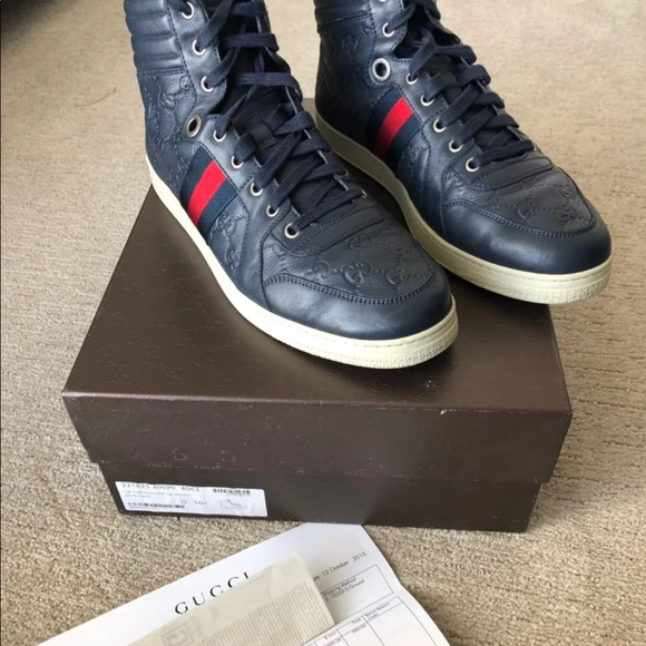 Gucci Other - Gucci Coda Guccissima High-Top Sneaker, Navy